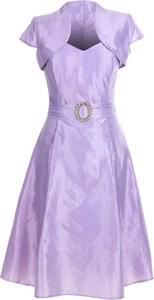 Sukienka Fokus z krótkim rękawem midi z tiulu