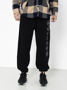 Czarne spodnie Brixton z bawełny