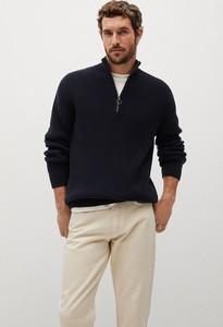 Czarny sweter Mango Man w stylu casual z bawełny