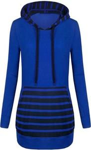 Niebieska sukienka Cikelly z golfem z długim rękawem