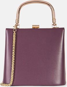 Fioletowa torebka Kazar w stylu glamour do ręki