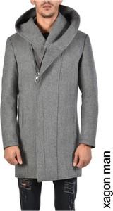 Płaszcz męski ubierzsie.com z tkaniny