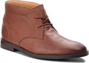 Brązowe buty zimowe Clarks w stylu casual