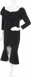 Sukienka V by Very z długim rękawem z dekoltem w kształcie litery v