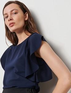Granatowa bluzka Reserved z okrągłym dekoltem