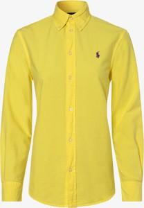 Żółta koszula POLO RALPH LAUREN z długim rękawem w stylu casual z kołnierzykiem