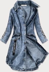 Niebieska kurtka Goodlookin.pl w stylu casual długa