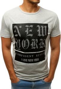 T-shirt Dstreet z nadrukiem z bawełny w młodzieżowym stylu