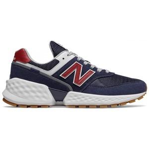 Niebieskie buty sportowe New Balance z zamszu 574