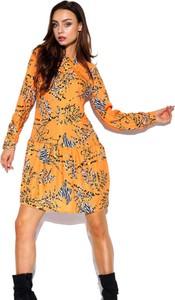 Pomarańczowa sukienka Lemoniade koszulowa