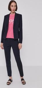 Bluzka Hugo Boss z długim rękawem z dekoltem w kształcie litery v
