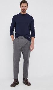 Granatowy sweter Pepe Jeans z wełny z okrągłym dekoltem