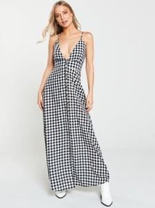 Sukienka V by Very z dekoltem w kształcie litery v maxi na ramiączkach