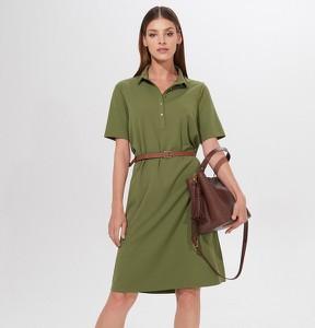 Zielona sukienka Mohito z krótkim rękawem