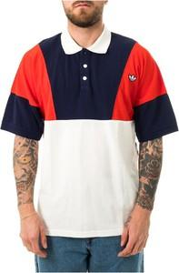 Koszulka polo Adidas w stylu casual z krótkim rękawem z bawełny
