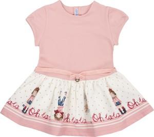 Różowa sukienka dziewczęca Mayoral