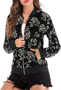 Czarna kurtka Cikelly krótka w stylu casual