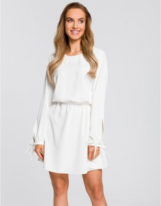 Sukienka MOE z długim rękawem z tkaniny