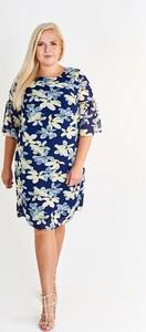Sukienka Fokus midi z okrągłym dekoltem dla puszystych