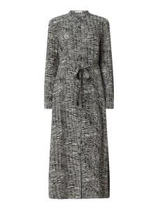 Sukienka Hugo Boss z długim rękawem z jedwabiu