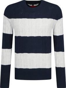 Sweter Tommy Hilfiger w młodzieżowym stylu z wełny