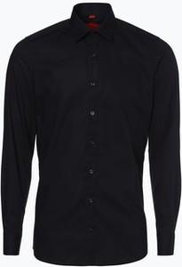 Czarna koszula Finshley & Harding z długim rękawem z klasycznym kołnierzykiem