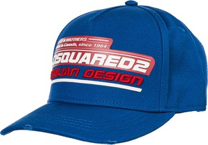 Niebieska czapka Dsquared2