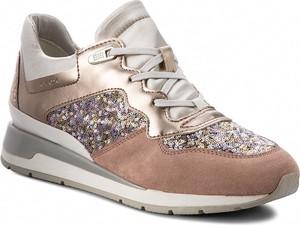 Brązowe buty sportowe Geox