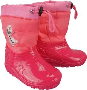 Czerwone buty dziecięce zimowe Wojtyłko