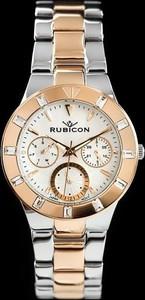 ZEGAREK DAMSKI RUBICON RNBD09 - silver/rosegold (zr549d) - Różowe złoto || Srebrny