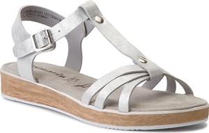 Sandały Tamaris z nubuku
