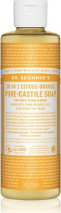 Dr. Bronner`s Dr. Bronner's Pure-Castile Liquid Soap Citrus-Orange | Naturalne mydło w płynie 240ml - Wysyłka w 24H!