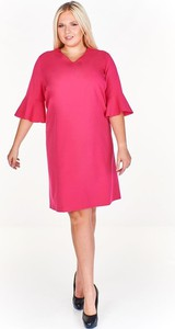 Różowa sukienka Fokus oversize