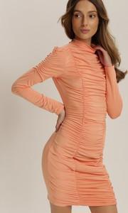 Pomarańczowa sukienka Renee dopasowana w stylu casual
