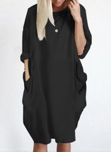 Sukienka Sandbella w stylu boho mini z długim rękawem