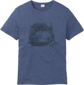 Niebieski t-shirt bonprix John Baner JEANSWEAR z krótkim rękawem