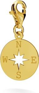GIORRE SREBRNY CHARMS RÓŻA WIATRÓW KOMPAS 925 : Kolor pokrycia srebra - Pokrycie Żółtym 24K Złotem