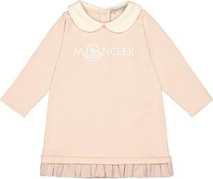 Sukienka dziewczęca Moncler z bawełny