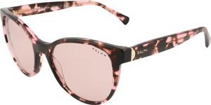 Brązowe okulary damskie Ralph Lauren