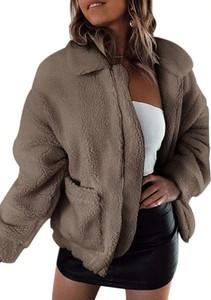 Brązowa kurtka Cikelly w stylu casual