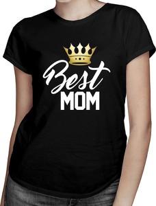 Czarny t-shirt Koszulkowy z okrągłym dekoltem w młodzieżowym stylu