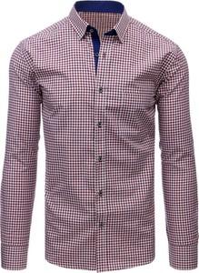 Fioletowa koszula Dstreet z bawełny z długim rękawem