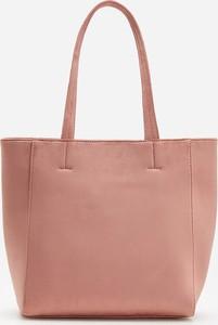 Różowa torebka Reserved na ramię matowa duża