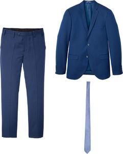 Niebieski garnitur bonprix z wełny