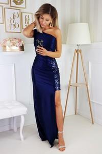 Granatowa sukienka N/A bez rękawów