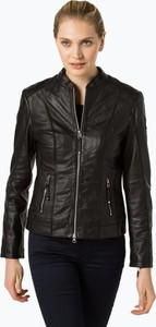 Czarna kurtka Cabrini ze skóry w rockowym stylu