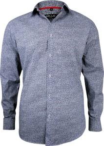 Niebieska koszula Bello z tkaniny