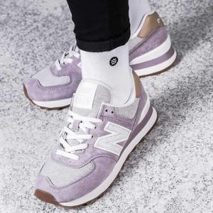 Różowe buty sportowe New Balance w młodzieżowym stylu