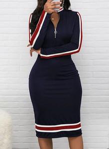 Czarna sukienka Arilook z długim rękawem midi z dresówki