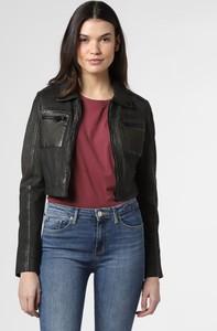 Czarna kurtka Gipsy krótka w stylu casual ze skóry
